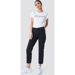 Cheap Monday Jeansy Revive Syntax Black - Black. Czarne spodnie z wysokim stanem Cheap Monday, z jeansu. Za 242,95 zł.