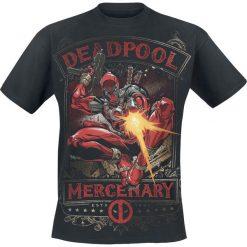 Deadpool Mercenary T-Shirt czarny. Czarne t-shirty męskie z nadrukiem Deadpool, xl, z okrągłym kołnierzem. Za 74,90 zł.
