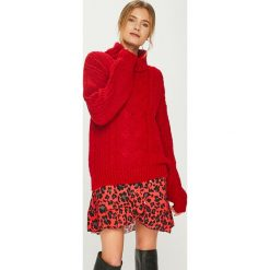 Answear - Sweter. Czerwone golfy damskie ANSWEAR, m, z dzianiny. Za 119,90 zł.