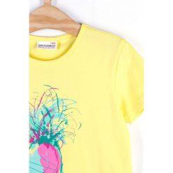 Coccodrillo - Top dziecięcy 104-158 cm. Czarne bluzki dziewczęce marki bonprix, z bawełny. Za 32,90 zł.