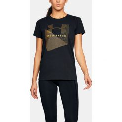 Under Armour Koszulka damska SPORTSTLE MESH LOGO CREW czarna r. XS (1310488-001). T-shirty damskie Under Armour, xs, z meshu. Za 66,00 zł.
