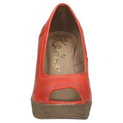 CZÓŁENKA KARINO 0714/057-. Brązowe buty ślubne damskie Casu, na koturnie. Za 179,99 zł.