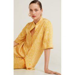 Mango - Bluzka Cachemir. Brązowe bluzki wizytowe Mango, l, z poliesteru, eleganckie, ze stójką. Za 139,90 zł.