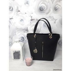 Kuferki damskie: Duża torebka kuferek MANZANA hot czarny połysk