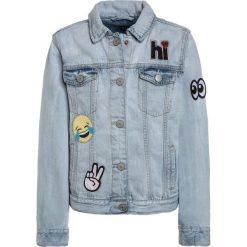 GAP GIRLS ITEMSEMOJI  Kurtka jeansowa denim. Niebieskie kurtki dziewczęce GAP, z bawełny. Za 239,00 zł.