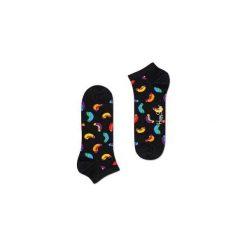 Skarpetki Happy Socks - Hot Dog Low (HOT05-9000). Czarne skarpetki męskie Happy Socks, w kolorowe wzory, z bawełny. Za 27,90 zł.