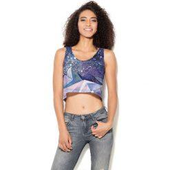 Colour Pleasure Koszulka damska CP-035 100 fioletowa r. XS-S. Fioletowe bluzki damskie marki Colour pleasure, uniwersalny. Za 64,14 zł.