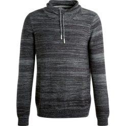 Swetry klasyczne męskie: Teddy Smith PEXER Sweter black melange