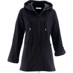Długa bluza rozpinana, długi rękaw bonprix czarny. Czarne bluzy rozpinane damskie bonprix, z długim rękawem, długie. Za 109,99 zł.