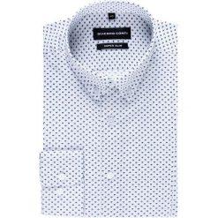 Koszula MICHELE KDBE000248. Białe koszule męskie na spinki Giacomo Conti, m, z materiału, button down, z długim rękawem. Za 149,00 zł.