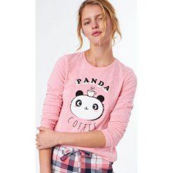 Etam - Bluzka piżamowa Clotilde. Koszule nocne i halki Etam, l, z nadrukiem, z bawełny, z długim rękawem. W wyprzedaży za 49,90 zł.