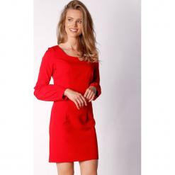 Sukienka w kolorze czerwonym. Czerwone długie sukienki marki Last Past Now, xs, z dekoltem na plecach, z długim rękawem. W wyprzedaży za 149,95 zł.