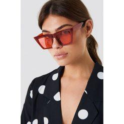 Okulary przeciwsłoneczne damskie: NA-KD Urban Okulary przeciwsłoneczne ostre kocie oczy – Red