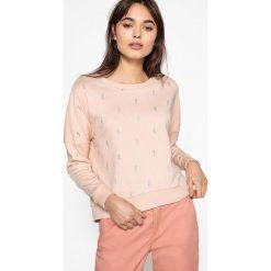 Bluza. Szare bluzy damskie marki La Redoute Collections, m, z bawełny, z kapturem. Za 102,86 zł.