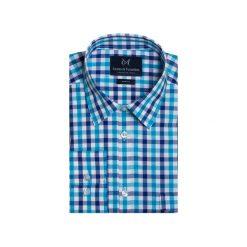 Koszula 1911 1. Niebieskie koszule męskie marki bonprix, m, z nadrukiem, z klasycznym kołnierzykiem, z długim rękawem. Za 89,99 zł.