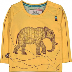 """Koszulka """"Save Me"""" w kolorze żółtym. Żółte t-shirty chłopięce z długim rękawem 4FunkyFlavours Kids, z nadrukiem. W wyprzedaży za 72,95 zł."""