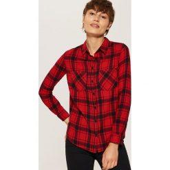 Koszula w kratę - Czarny. Niebieskie koszule damskie marki House, m. Za 39,99 zł.