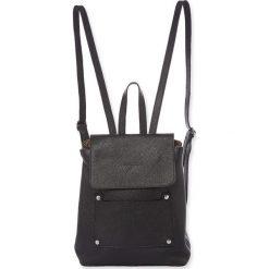 """Plecaki damskie: Skórzany plecak """"Bridget"""" w kolorze czarnym – 25 x 29 x 15 cm"""