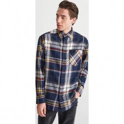 Bawełniana koszula w kratę - Wielobarwn. Szare koszule męskie marki House, l, z bawełny. Za 119,99 zł.