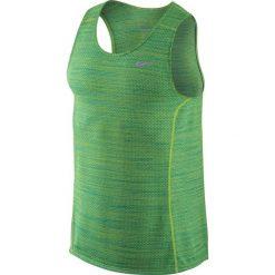 Nike Koszulka męska Dri-Fit Cool Miler Singlet zielona r. XL (718346 313). Zielone koszulki sportowe męskie marki Nike, m. Za 89,00 zł.
