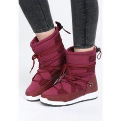 Bordowe Śniegowce Parsley. Czerwone buty zimowe damskie Born2be, z materiału. Za 99,99 zł.