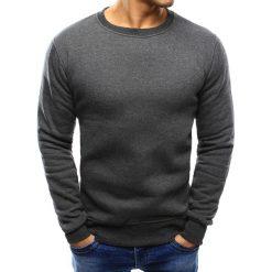 Bluzy męskie: Bluza męska bez kaptura antracytowa (bx2405)