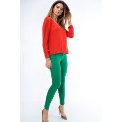Spodnie skinny zielone MP44310. Zielone rurki damskie Fasardi. Za 59,00 zł.