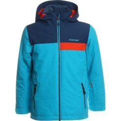 Ziener APLI JUN  Kurtka snowboardowa sea. Niebieskie kurtki chłopięce sportowe marki bonprix, z kapturem. W wyprzedaży za 423,20 zł.
