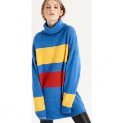 Sweter w kolorowe paski - Wielobarwn. Szare swetry klasyczne damskie Sinsay, l. Za 79,99 zł.
