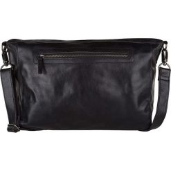 """Skórzana torebka """"Lexington"""" w kolorze czarnym - 37 x 31 x 6 cm. Czarne torby na laptopa marki Cowboys Bags & Belts, w paski, ze skóry. W wyprzedaży za 260,95 zł."""