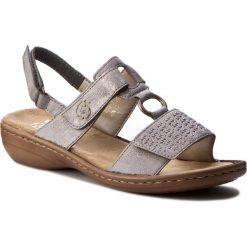 Rzymianki damskie: Sandały RIEKER - 60887-40 Grey