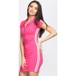 Fuksjowa Sukienka Love Thang. Różowe sukienki dzianinowe marki Born2be, na lato, s. Za 74,99 zł.
