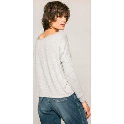 Roxy - Bluzka. Szare bluzki asymetryczne Roxy, l, z dzianiny, casualowe, z okrągłym kołnierzem. W wyprzedaży za 129,90 zł.