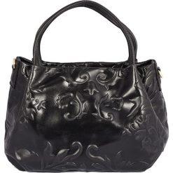 Torebki klasyczne damskie: Skórzana torebka w kolorze czarnym – 22 x 21 x 13 cm