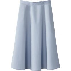 Długie spódnice: Spódnica midi o rozszerzanym kroju wykonana z bawełnianej popeliny