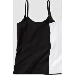 Bluzki dziewczęce bawełniane: Koszulka na cienkich ramiączkach, 10-16 lat (2-pak)