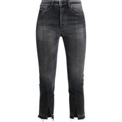 LOIS Jeans RETRO SPLIT Jeansy Straight Leg black stone. Czarne jeansy damskie marki LOIS Jeans, z bawełny. Za 589,00 zł.
