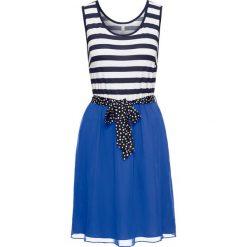 Sukienki: Sukienka bonprix niebiesko-biały w paski