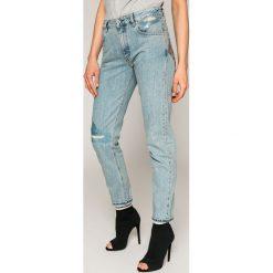 Diesel - Jeansy Neekhol. Niebieskie proste jeansy damskie Diesel. W wyprzedaży za 539,90 zł.