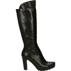 Kozaki ocieplane - 2762 308P NER. Czarne buty zimowe damskie marki Venezia, ze skóry. Za 269,00 zł.