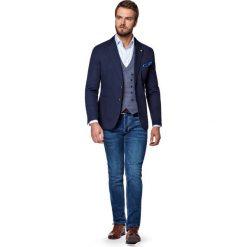 Jeansy Bronx. Niebieskie jeansy męskie slim marki LANCERTO. W wyprzedaży za 299,90 zł.