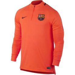 Nike Bluza męska FCB Dry SQUAD Drill pomarańczowa r. L (854191 813). Brązowe koszulki do piłki nożnej męskie marki Nike, l. Za 259,00 zł.