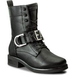 Botki ALDO - Realove 52134297 96. Czarne buty zimowe damskie ALDO, z materiału, na obcasie. W wyprzedaży za 249,00 zł.