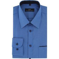 Koszula MARCO 16-04-06-K. Niebieskie koszule męskie na spinki marki bonprix, m, z nadrukiem, z klasycznym kołnierzykiem, z długim rękawem. Za 199,00 zł.