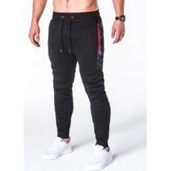 Spodnie męskie: SPODNIE MĘSKIE DRESOWE P657 – CZARNE