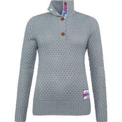 """Golfy damskie: Sweter """"Aletsch"""" w kolorze szarym"""