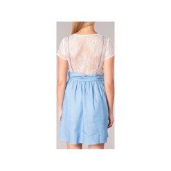 Sukienki krótkie Moony Mood  GLAM. Niebieskie sukienki mini marki Moony Mood, l, z krótkim rękawem. Za 143,20 zł.