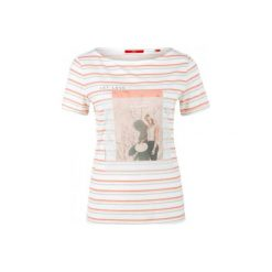 S.Oliver T-Shirt Damski 34 Kremowy. Białe t-shirty damskie marki S.Oliver, s. W wyprzedaży za 55,00 zł.