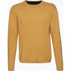 Finshley & Harding - Sweter męski – Pima-Cotton/Kaszmir, żółty. Czarne swetry klasyczne męskie marki Finshley & Harding, w kratkę. Za 229,95 zł.