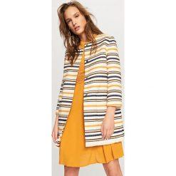 Płaszcze damskie pastelowe: Płaszcz paski – Wielobarwn
